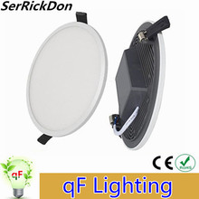 Newest design Ultra Thin Recessed Die-cast aluminum integrated LED panel lights 8W 16W 22W 32W Built-in driver ceiling downlight