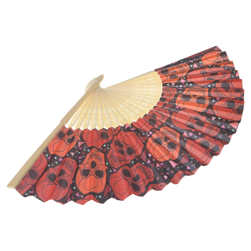 Chinese Vintage Hollow Hand Fan Halloween Folding Fans Party Favor
