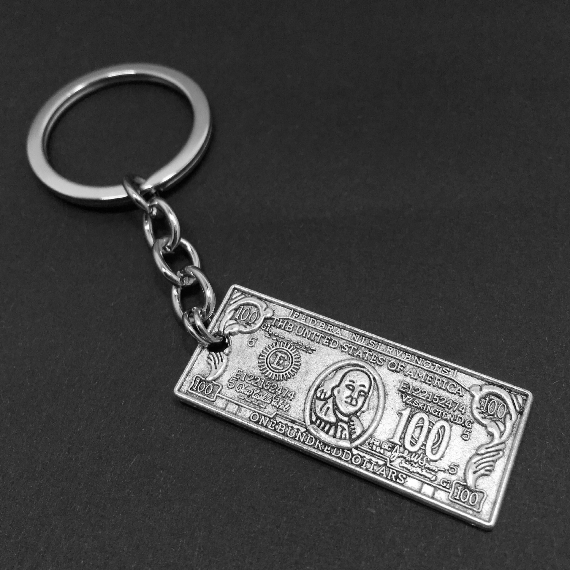 New Style Popular Ancient Silver Money Dollar Currency Modeling Alternative Creative Personality Keychain Keyring Women Men Gift