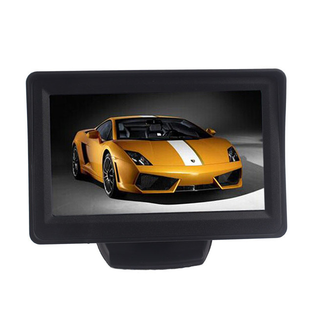 2016 4.3Inch Car TFT LCD Monitor Mirror + Reverse Rear View Backup CMOS Camera high quality mini DEC7