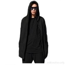 Männer frühjahr cotton pullover strickjacke lange runway design mantel mantel mantel schwarz harajuku hip hop japanischen assassins creed clothing