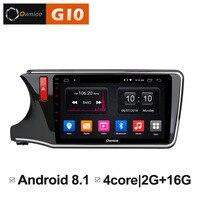 Car Radio For Honda City 2015 2016 2017 Android 8.1 Unit 10.2'' Screen GPS Navigation dvd Multimedia Video Player 4G Sim LTE DVR
