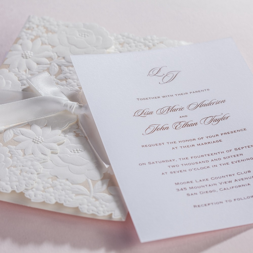 cw5183 white royal wedding invitation card/ greeting card with laser ...