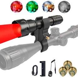 UniqueFire T20 T38 czerwone światło 38mm obiektyw latarka z zoomem latarka z przełącznik ciśnieniowy  ładowarka USB  zakres góra i 3 LED pigułki