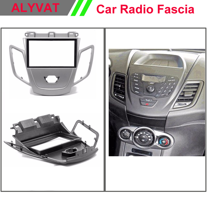 Car Radio Facia Fascia panel frame for FORD Fiesta wo/display (Silver) Stereo Fascia Dash CD Trim Installation Kit car radio dvd cd fascia panel for faw oley 2012 stereo dash facia trim surround cd installation kit