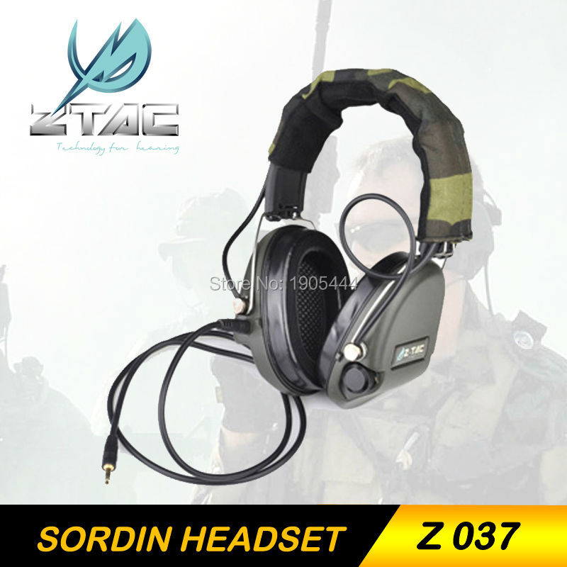 Z-TAC Z Tactical Airsoft Gun SORDIN Headset IPSC Military Hunting Noise Reduction Headphone Hunting Earphone For Shooting z tactical military headset headphone airsoft radio comtac ipsc od for ptt military radio z 111