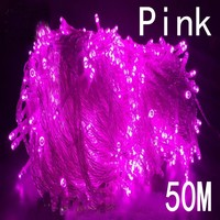 NEW pink Colors String Light 50M 400 LED Christmas/Wedding/Party Decoration Lights 220V outdoor Waterproof led lamp