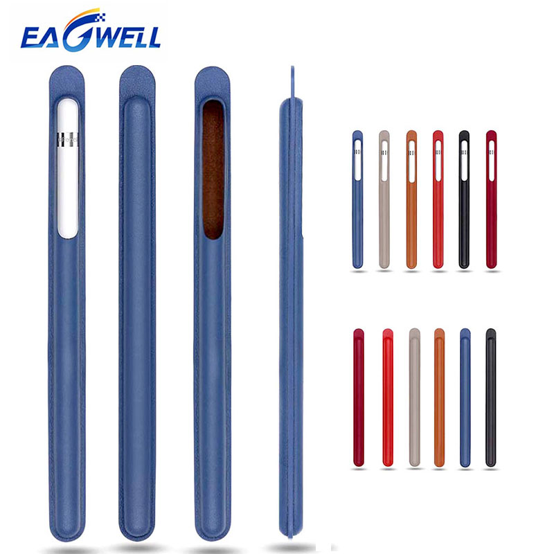 Eagwell For Apple Pencil PU Leather Case Sleeve Cover Bag Tablet Touch Stylus Pen Protective Cover Holder Pouch Anti-knock Bag jisoncase genuine leather sleeve case for apple pencil holder cover pouch anti knock fixable pen bag for ipad pro 9 7 10 5 12 9