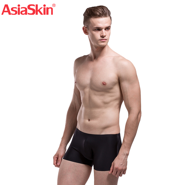 2017 Famous Mens Ultra-thin Seamless Underwear Boxers Solid Fashion Ice Silk Boxer Sexy Semi-Transparent Ropa Interior Hombre