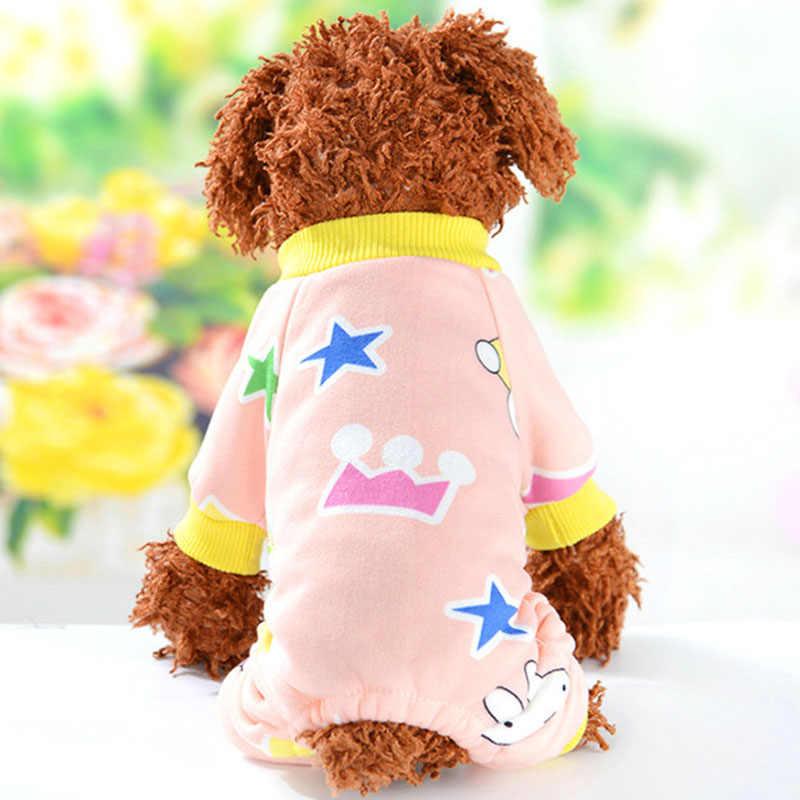 ... Dog Pajamas Fleece Pet Clothes 4 Colors Cozy Onesie Pet Cat Puppy Pjs  Jumpsuit Rompers for ... 6d10d2b19