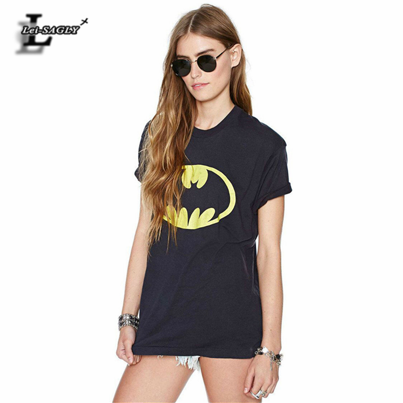 Fashion Batman Logo 3D Print T-Shirt Summer All-Match <font><b>Harajuku</b></font> <font><b>Kawaii</b></font> <font><b>Sexy</b></font> Casual Black T shirts Loose Elastic Tops H844 image