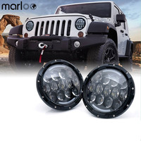 Marloo 7 Inch 105W White Round LED Headlight Offroad Car Lamp DRL Amber Turn Signal Light