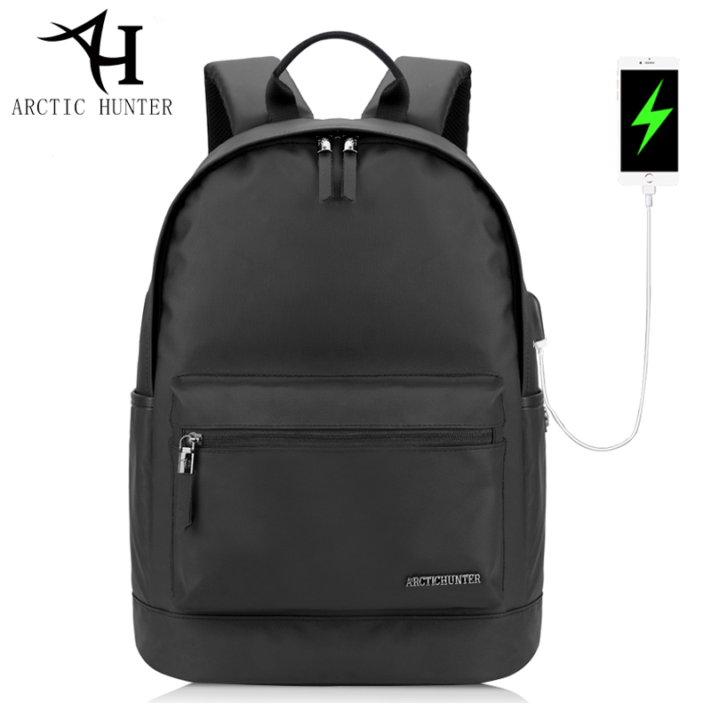 ARCTIC HUNTER High Quality Waterproof Oxford Backpacks USB charger waterproof zipper backpack Women travel back pack bag B00073 arctic hunter design 15 6 laptop backpacks men password lock backpack waterproof bag casual business travel backpack male b00208