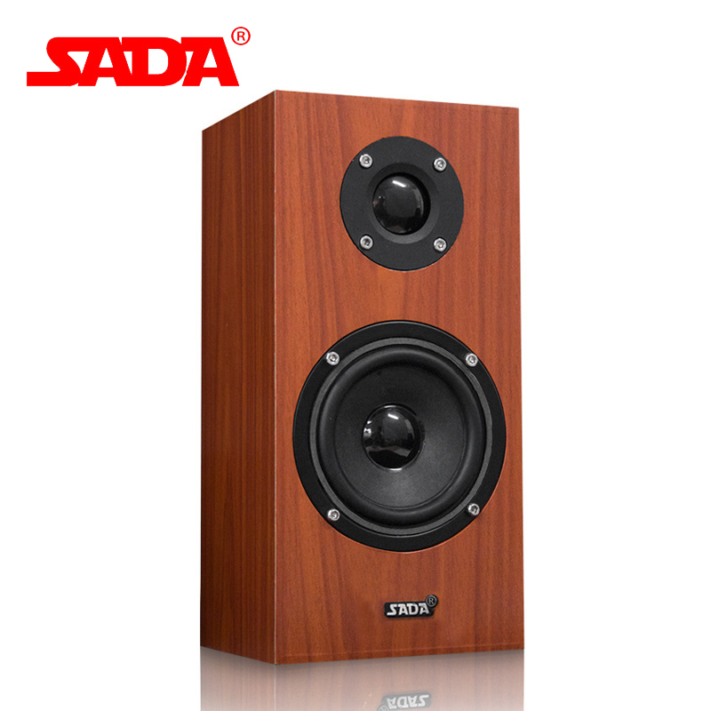 SADA V-180 Multifunction Home Stereo Heavy Bass Wooden 3D Subwoofer USB Computer Speaker PC Phone Speakers for Notebook Laptop