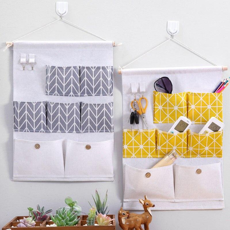 Image 5 - 2019 NEW Organizer Foldable Rear Hanging Debris Storage Bag Hang Wall Dormitory Bonsai Clothes Socks Hang Organizador Hot Sale-in Hanging Organizers from Home & Garden