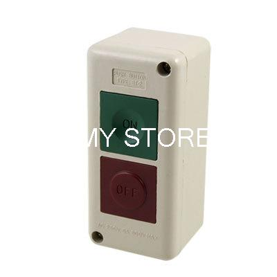 Momentary Spring Returned BT-2 Plastic Metal AC 250V 5A Max.600V Electric Motor ON OFF Control Start Power Push Button Switch
