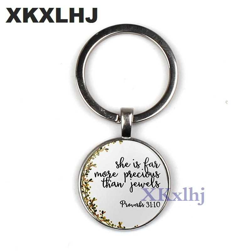 XKXLHJ Philippians 4:13 I Can Do All The Bible Verses Through The Christ  Pendant Keychain Inspirational Jewelry Christian Gifts