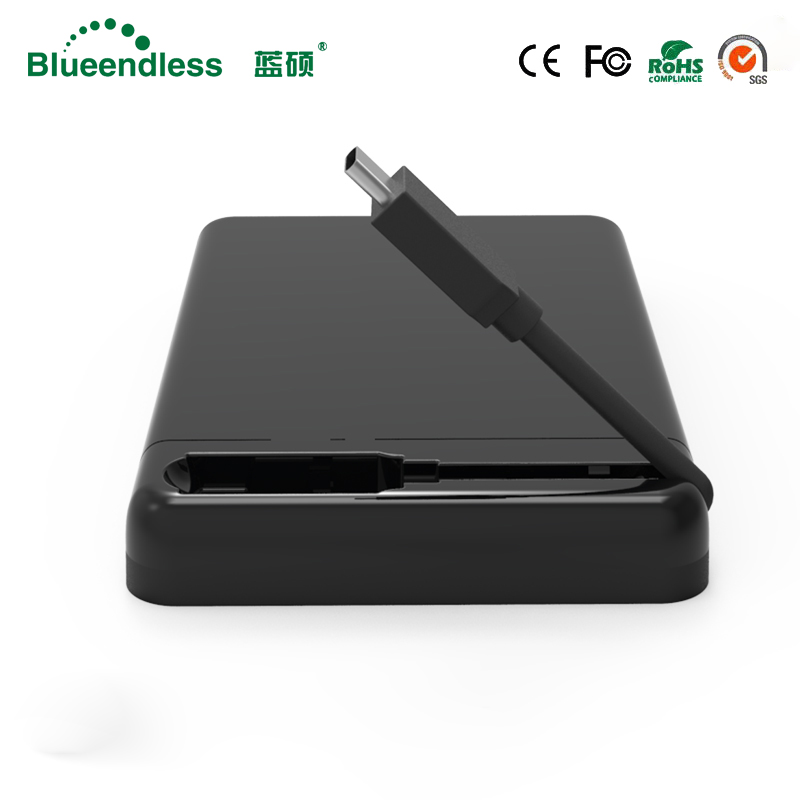 Blueendless 2.5 Inch HDD Case USB3.0 To SATA TYPE-C External Hard Drive Enclosure 6 Gbps High-Speed Box for HDD SSD Support UASP ugreen hdd enclosure sata to usb 3 0 hdd case tool free for 7 9 5mm 2 5 inch sata ssd up to 6tb hard disk box external hdd case
