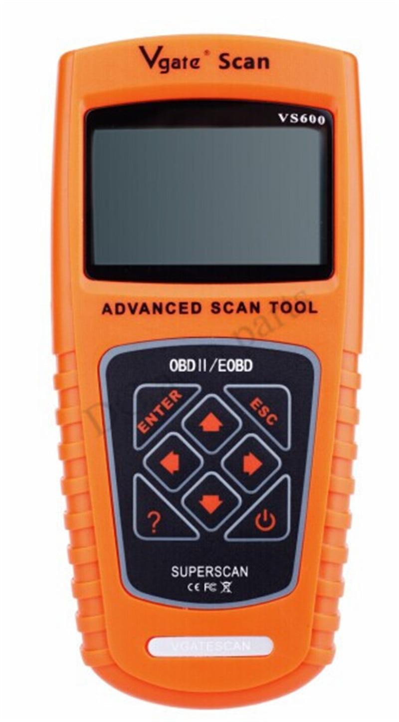 Цена за Vgate сканирования против 600 автомобильная диагностического сканера одб OBD2 диагностические инструменты VS600 читателя кода VS600 бесплатная доставка