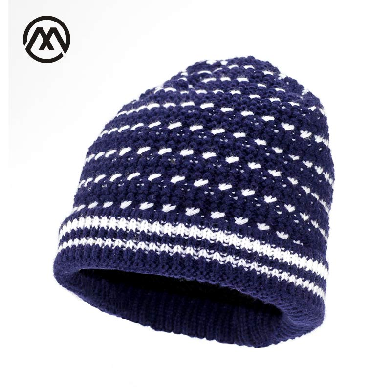 Fashion stripes womens knit hat winter warm hat knitted cap hats for men wool warm Beanies cap snow beanie bonnet femme gorros winter women beanie curl all match crochet knitted hiphop hats warm ski hat baggy cap femme en laine homme gorros de lana 62