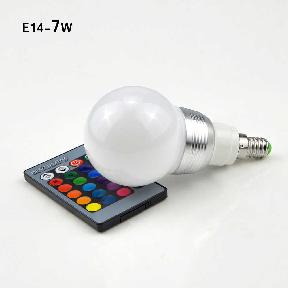 1 шт. волшебный светодиодный rgb лампа E27 E14 5 Вт 7 Вт AC85V-265V 110 V 127 V 220 V праздничные светодиодные лампы для декора Романтический домашний ночной свет