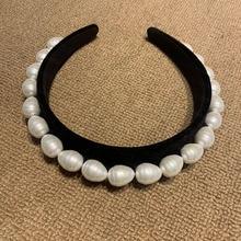 European new velvet pearl hairpin style shell handmade Women hairdressing Hair Jewellery Luxury Tiara Joyas