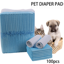 100pcs /Lot Super Absorbent Pet Diaper Dog Training Pee Pads Healthy Clean Wet Mat For Cats 33cm/45cm