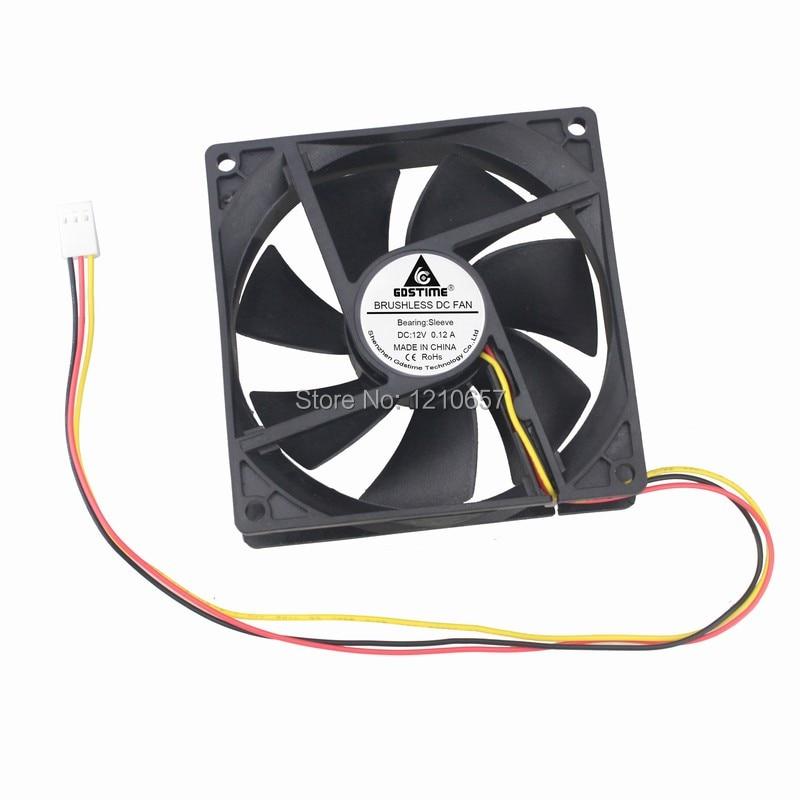 50 шт LOT Gdstime 92mm 92x25mm Выпадак кампутара DC 12V 3Pin CPU вентылятар астуджэння