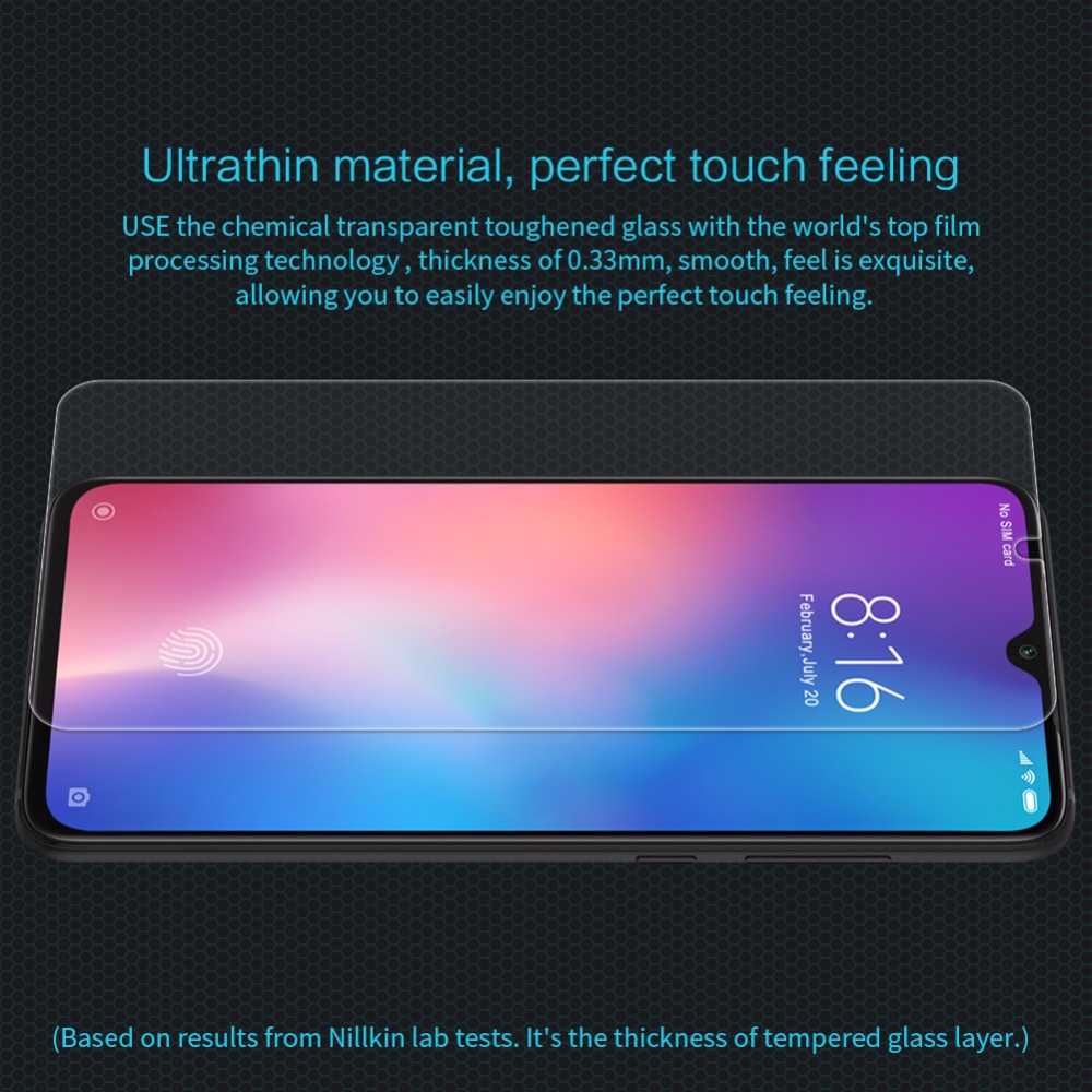 Tempered Glass For Xiaomi mi9 / mi9 Explore Screen Protector NILLKIN Amazing H Nano Anti-burst Protective Film For xiaomi mi 9