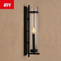 Retro Vintage Edison Levou Suporte de Vela Estilo Loft Lâmpada de Parede Arandela Luz de Cabeceira Lâmpada de Parede E14 Iluminação Interior ZBD0050
