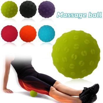 Pain Stress Relief Silicone Foot and Hand Massage Fitness Yoga Ball Lacrosse Ball Hockey Ball for Muscle Relaxation
