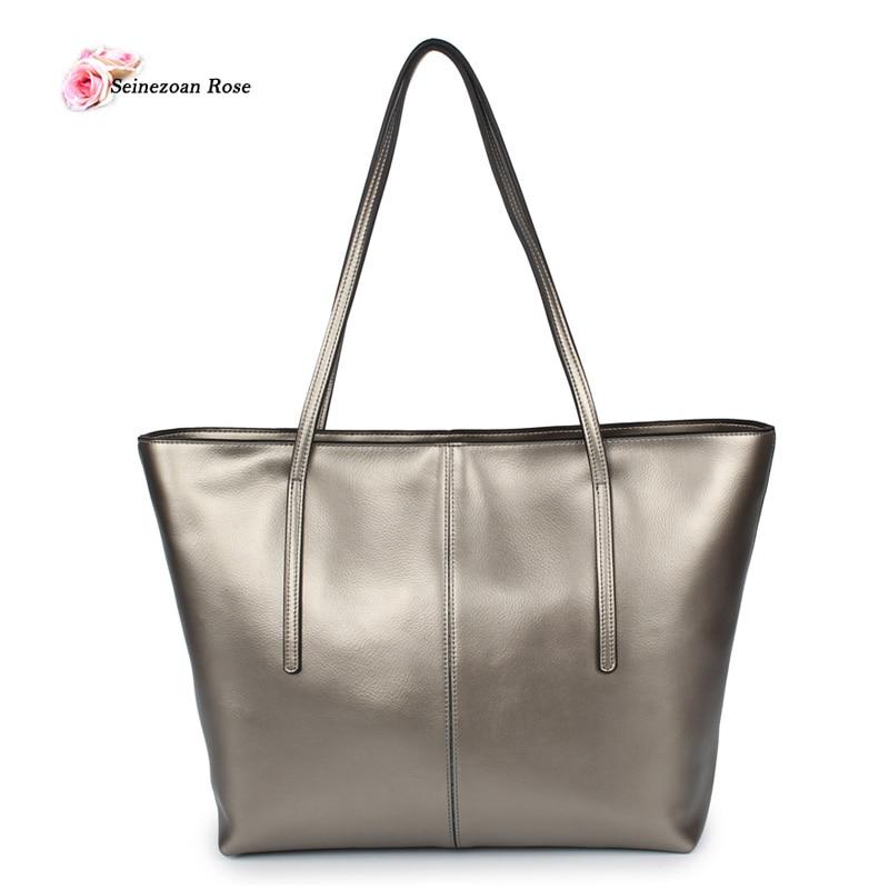 100% Genuine Leather Luxury Women Shoulder Bags 2017 Fashion Women Large Totes Bags Ladies Real Leather Handbags Bolsos Feminina