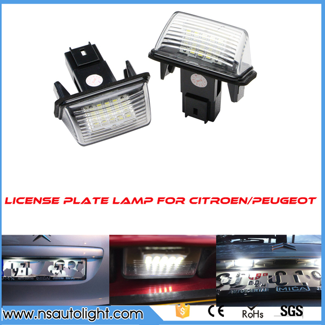 Us 1099 2 Sztuk Lampa Led Oświetlenie Tablicy Rejestracyjnej Licencji Do C3 C4 C5 Citroen Berlingo Saxo Xsara Picasso W 2 Sztuk Lampa Led