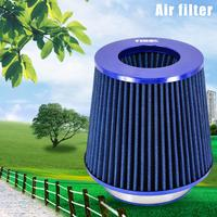 New 76 88 101mm Cars Air Filter Round Tapered Blue Universal Auto Cold Air Intake CSL2018