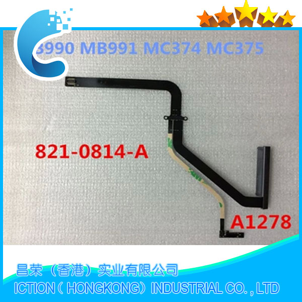 20pcs lot 821 0814 A HDD cable hard disk cable For Macbook Pro 13 A1278 821
