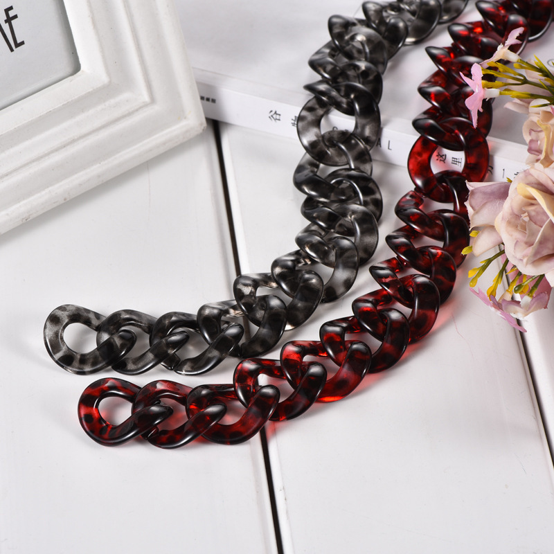 DIY Resin Ornaments Package Chain Chain Necklace Straps Second Gram Force Woman Bag Chain Parts Foreign Trade