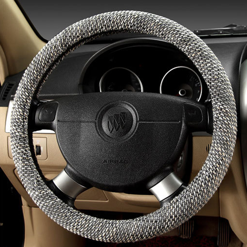 Aliexpress freeshipping Summer Flax car steering wheel cover car styling Environmental Non slip breathable steering wheel in Steering Covers from Automobiles Motorcycles