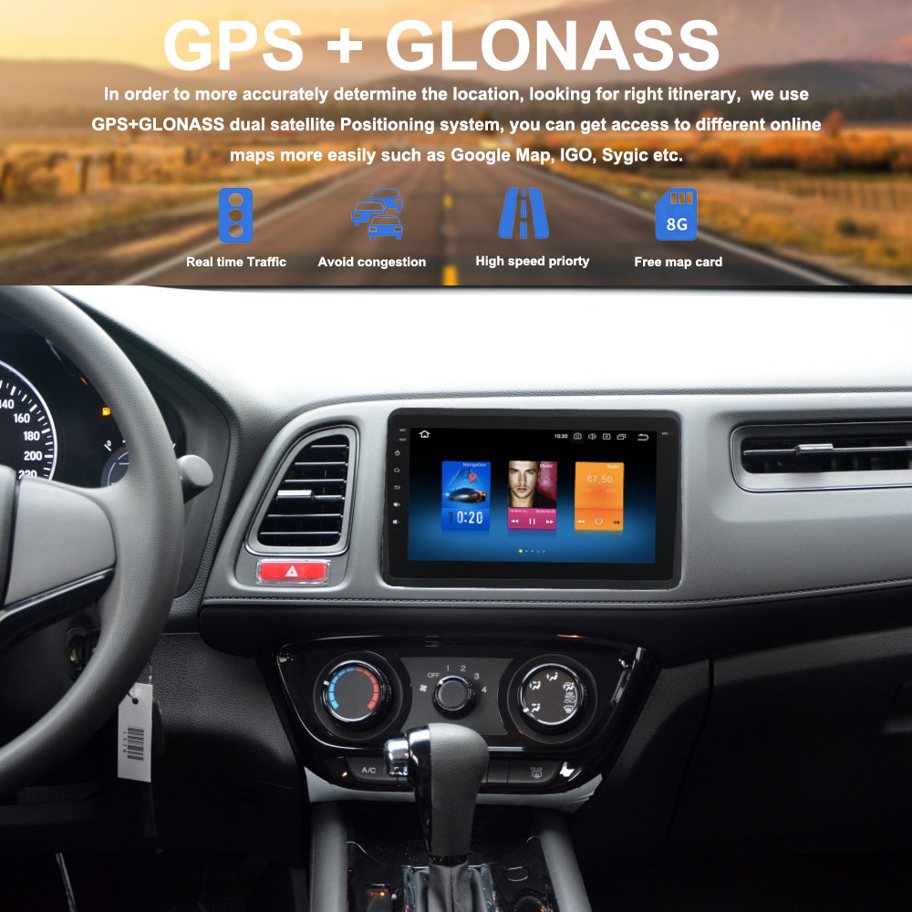 Car 1 din radio android 9 0 GPS Navi for Honda Vezel HR V HRV 2014