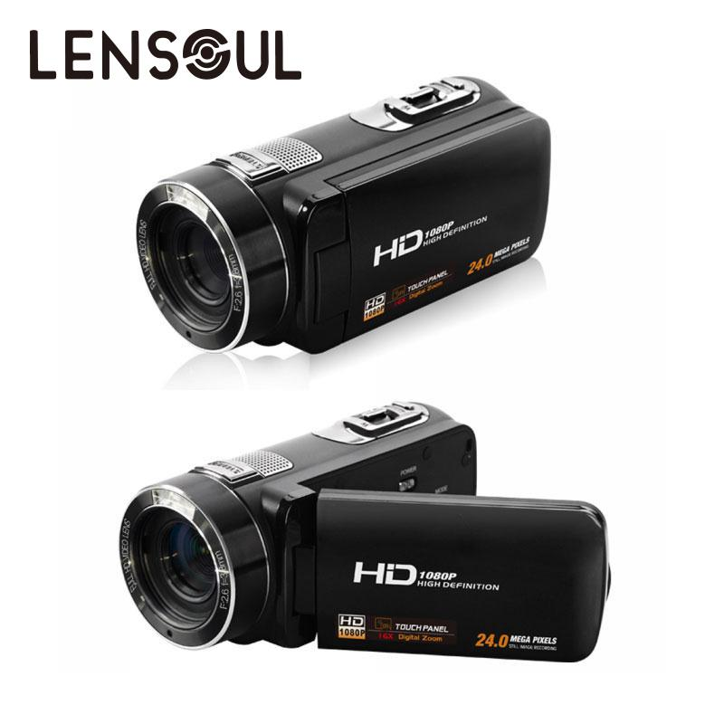lensoul lensoul 3.0'' 8MP 1080P 16X Digital Zoom HD Camera DV Camcorder Anti Shake Multilanguage Face Detection