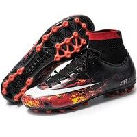 Zapatillas hombre high footed sneakers erkek spor ayakkabi soles outdoor non slip shoes soccer shoes cr7 soccer shoes