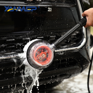 Image 2 - Car Wash Brush Water Flow Car Brush Replaceable Heads Truck Tire Cleaning Handle Brush Windows Car Cleaning Tools Xammep