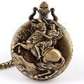 Старинные Рыцарь Езды Лошадь Кварцевые Карманные Часы Ожерелья Мужские Подарков P93