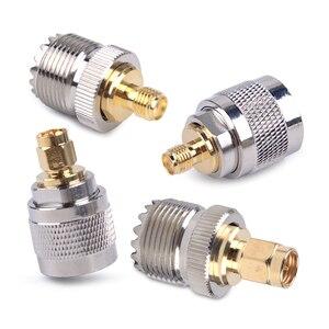 LETAOSK 4 шт./компл. набор адаптеров PL259 SO239 to SMA разъем RF коаксиальный тестовый преобразователь