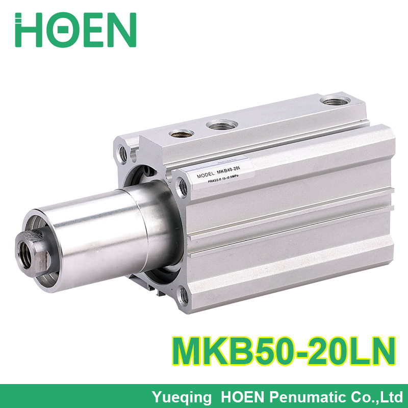 SMC Type MKB50*20LN Double acting Rotary Clamp Air Pneumatic Cylinder MKB Series MKB50-20LN high quality double acting pneumatic gripper mhy2 25d smc type 180 degree angular style air cylinder aluminium clamps