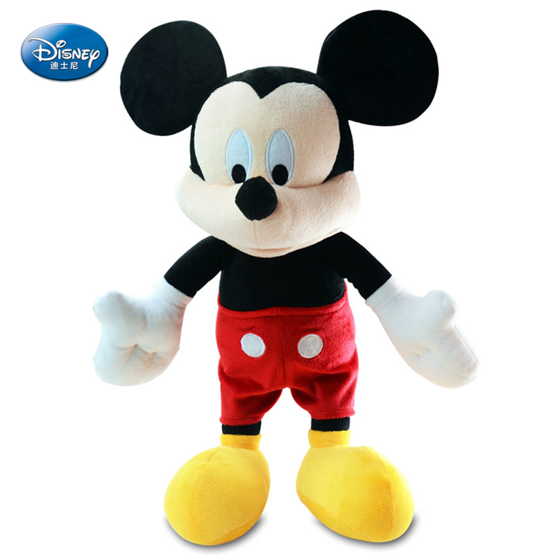 все цены на Genuine Disney Mickey Minnie Mouse Plush Doll Disney Plush Toy for Girls Doll Baby Mickey Toys for Children Birthday Gift