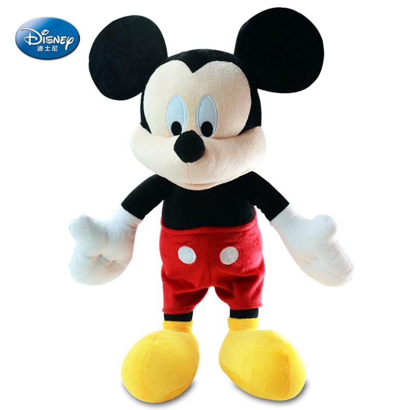 Véritable Disney Mickey Minnie Mouse poupée en peluche Disney peluche jouet pour filles poupée bébé Mickey jouets pour enfants cadeau d'anniversaire