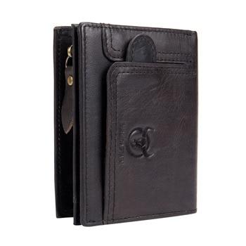 45cc9cb7d BULLCAPTAIN los hombres de piel de vaca de moneda bolso para hombre de marca  de diseñador de cuero de la tarjeta de dinero titular de la bolsa de hombre  ...