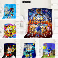 HEARMNY Sonic The Hedgehog Blanket Sleep Cover Blankets Yoga Office Sofa Blanket Bed Cover Travel Warm Throw Blankets