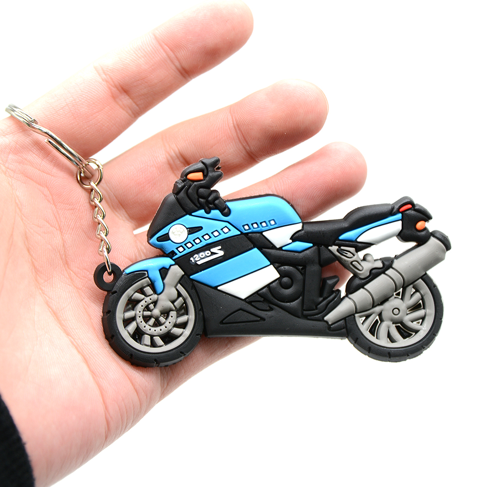 Image 5 - Keychain Motorcycle Rubber accessories Creative Personality  Keyring  buckle for honda BMW S1200-in Covers & Ornamental Mouldings from Automobiles & Motorcycles