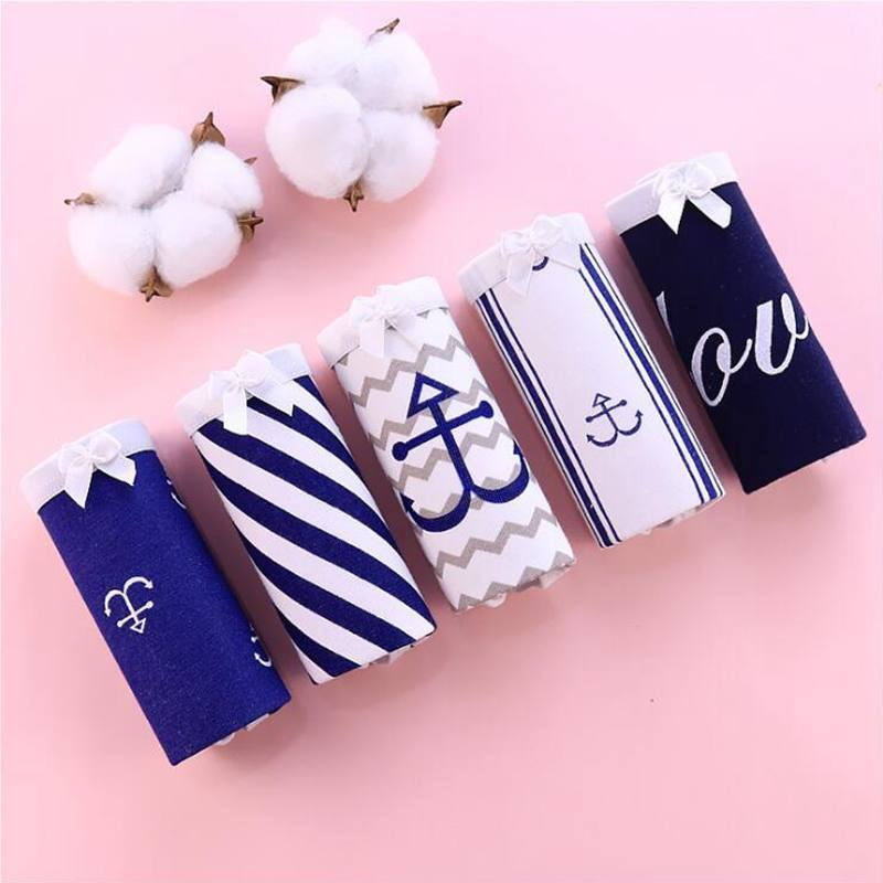 2019 Sexy Women Funny Lingerie Cotton Briefs Underwear Mid Rise Lovely Girls Panties for Female Cartoon Knickers Panties
